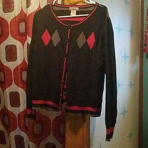 (FINAL PRICE) Red and black retro cardigan